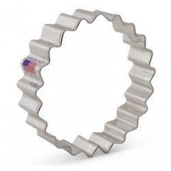 Emporte-pièce  fluted circle / cercle cannelé - 9.84 cm - Ann Clark