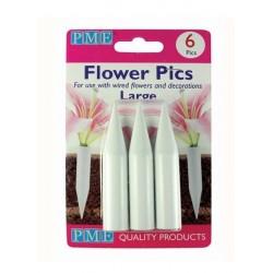 PME - tubes pour fleurs - large - 6 pièces