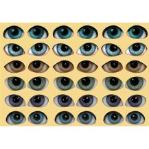 yeux auto-adhésif 2D - 3D